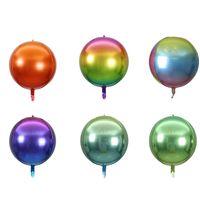 22 polegadas Balão Flutuante Air Ball Decoração Gradiente Filme de Alumínio 4D Festa de Aniversário Shopping Shopping Atividades 5 / Pacote