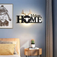 home Living Room Restaurant Background Decoration wall Lamp Nordic English Letter Lamps Modern Simple Bedroom LED Wall Light Bedside Aisle Staircase Indoor Lights
