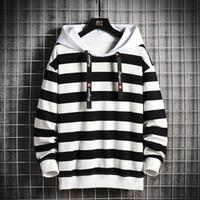 Men's Hoodies & Sweatshirts Sport Fashion Brand 2021 Autumn Male Casual Striped Sweatshirt Men Clothing Tops