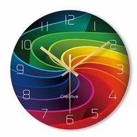 Wall Clocks Clock Living Room Home Quiet Creative Quartz Art Glass Black Bedroom Reloj De Pared Guess Women Watch 50Q215