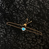 S925 الاسترليني الشظية الأزرق الحب تصميم بسيط المرأة سلسلة سوار شخصية الأزياء الفاخرة مجوهرات موناكو أساور هدية لصديقة