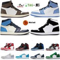 2021 Jumpman Low 1 1S Chaussures de basket-ball de haut en haut Top og noir Toile Court Purple SP Travis Scotts Sneakers Hommes et Femmes 36-46 euros Framedeless