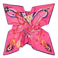 Bufandas de diseño de marca de lujo Fashion Lady's Square Bufanda de seda Pashmina femenina 130 * 130cm Mantones grandes envueltos NeckerChief NeckerChief Suffler Bandana Echarp
