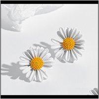 Korean Tiny Daisy Flower Stud Earrings For Women Summer Jewelry Fashion Earring Mujer Vintage Ladies Waj0662 Drop Delivery 2021 Njv6A