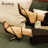 Dress Shoes Rxemzg Ankle Strap Sandals Women Sexy High Heels Summer Woman Narrow Band Open Toe Casual Fashion Ladies