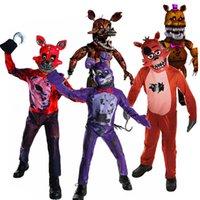 FNAF Freddy Kostüm Çocuklar Çocuk Fredy Süper Kahraman Erkek Kız Komik Parti Cosplay Cadılar Bayramı Karnaval Takım Tulum C241 Q0910