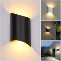 Vente en gros Modern Minimaliste Mur de mur de plein air Terrasse Jardin Mode LED Lampe étanche Double TILE TILE