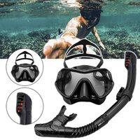 Masque de plongée de plongée professionnelle Set anti-brouillard lunettes de tuba Snorkel Lunettes pour adultes Spearfishing Equipment Masques