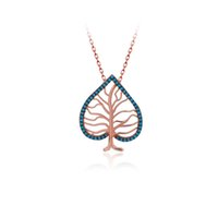 Love Trendy 925 Silver Tree Turkish Jewelry Zircon Fashion Leaf Necklace For Women Valentines Day Luxury Designer