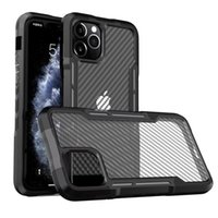 Carbon Fiber Hard Case for iPhone 12 Pro Max 11 XR X Xs Silicone TPU Bumper Protective Phone Cover