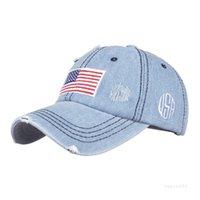 파티 모자 미국 카우보이 모자 트럼프 아메리칸 야구 모자 씻어 고민 된 미국 국기 햇빛 4style t2i52361