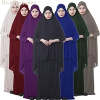 Abbigliamento da preghiera musulmana formale Set di hijab Dress Abaya Afghanistan Abbigliamento islamico Namaz Long Jurken Etnico
