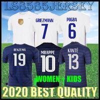 Frauen 2021 2022 FFF 2-Sterne Benzem Fussball Jersey Mbappe Giroud Griezmann Kante 20 21 Pogba Dembele Sissoko MAILLOT DE FOOL KINDER KINS KITS + SOCKS Top Qualität