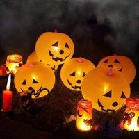 Party Supplies Halloween Glowing Balloon Pumpkin Balloons Mid-year Festival Atmosphere Decor Family Head Lighting DHB8988