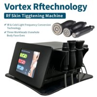 Removedor de rugas multifuncionais Quantum vórtice RF Não-invasivo pele apertando a face de levantamento de rádio