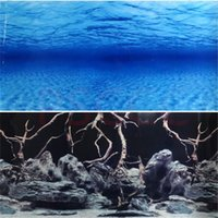50CM 60CM Aquarium Background Poster Wood Double Sided Fish Tank Decorative Ocean Landscape Picture Wall Decor Glossy Decorations