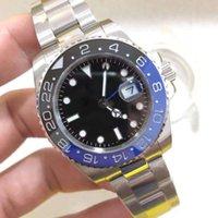 مصنع U1 ST9 ووتش باتمان أسود أزرق حافة السيراميك التلقائي الميكانيكية الفولاذ المقاوم للصدأ مكبر كبير 116271 الياقوت الزجاج 40 ملليمتر الرجال الساعات المعصم المعصم
