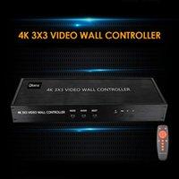 3x3 hd tv الفيديو الجدار تحكم 9 عرض شاشات الشاشة خياطة المعالج 3x2 2x2 1x3 2x3 4x2 2x4-البلاستيك الربط كابلات الصوت يخدع