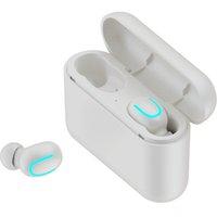 TWS Q32 top quality Wireless Earphones 5.0 for phone stereo music Sport Handsfree Earbuds waterproof earphone portable Mini headphones with charging case