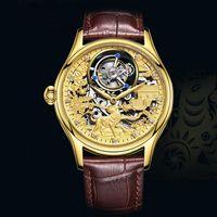 Wristwatches 100% Tourbillon Watch Mechanical Men Waterproof Skeleton Mens Watches Top For Relogio Masculino