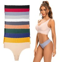 Women's Panties 2pcs lot Seamless Sexy Underwear Solid G-string Lingerie T-Back Briefs Thong Underpants Intimates