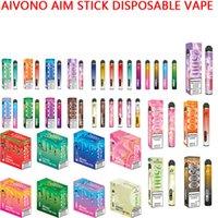 Authentic AIVONO AIMT STICK DESECHABLE VAPE PEN FIL PEN EX Dispositivo de cigarrillo con batería de 1400mAh 9ml cartucho preceplado 2500 kits de inicio de bocados vs bang pro max