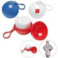 New Sferical Raincoat Plastic Ball Ball Chain Key Catena Monouso Raincoats Portatile Coperchi da pioggia Viaggio Viaggio viaggio Rain Coat Regalo promozionale GWE9279