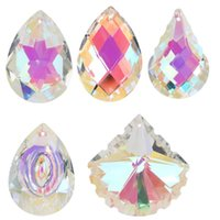 Chandelier Parts For Windows Decoration Colorful Crystal Pendant Home Decor Hanging Crystals Prism AB-Color DIY Garden Decorations