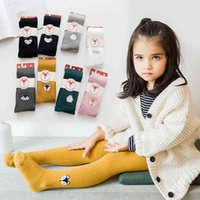 socks Children's pantyhose spring and autumn Korean embroidery cartoon animal girl's pantyhose trend
