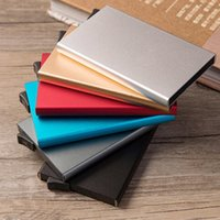 Card Holders Multi-card Holder Solid Color Automatic -up Anti-theft Bank Box Mini Business Case