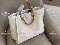 Moda Francesa Couro Clássico Saco de Praia de Lona Grande Capacidade e Alta Qualidade Asnopping + Wholesale Handbags