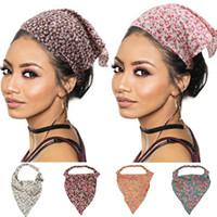 Vintage Accessories Bandana Women Print Elastic Hair Bands Headband Turban Bohemian Femme Hairband Bandeau Scarf Headwear
