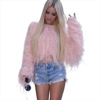 Women's Autumn Winter Sweater Jacket Fashion Sexy Loose Hook Flower Hollow Hand Tassel Knitted Pullover Sweaters Spring
