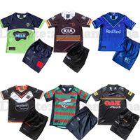 Wests Tigers 럭비 유니폼 키트 2021 22 브리즈번 브리즈번 BronsoS Penrith Panthers Canberra Assaulter 어린이 NRL 리그 유니폼