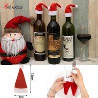 Sombrero de botella nuevo pequeño año para cubierta de vino Decoraciones para niños Regalo para niños Feliz Navidad Bar Mesa Decoración de mesa Suministros stock HM21