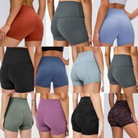 Yoga Mujeres Shorts Leggings Diseñador Icono de Womens Entrenamiento Gimnasio Use Lu LULU 68 Color Sólido Deportes Elástico Fitness Dama General Mallas Legging