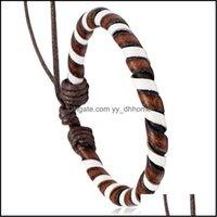 Charm Jewelrycharm Bracelets Arrivals Fashion Men Leather Boys Alloy Bangle Diy Handmade Cross Bracelets! Drop Delivery 2021 Zsnwu