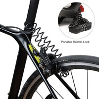 Bike Locks WEST BIKING Anti-theft Bicycle Lock 4 Digit Password Mini Helmet Bag For Motorcycle Scooter Cycling Cable