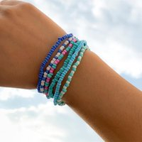 Link, Chain Ingemark Boho Mix Color Seed Bead Bracelet Set For Women Pulseras Strand Charm Bracelets Bangles Wrist Hand Aesthetic Jewelry