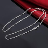 Fashion Basic Stainless Steel Necklace For Men Women Curb Cuban Link Chain Chokers Vintage Clavicle Silver Chains