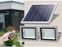 Solar Floodlight Double Head Lamps LED Spotlight 36LEDs 63LEDs 80LEDs 100LEDs Waterproof Body Sensor Courtyard Aluminum Landscape Light For Outdoor Street Garden