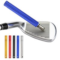 Golf Wedge Iron Groove Sharpener Club Cleaner Cleaning Tool Square Cutter Training Aids