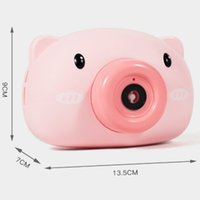 Automatic Funny Cute Cartoon Pig Animal Soap Children Bubble Maker Camera Bath Wrap Machine Toys Gifts for Kids and Girls