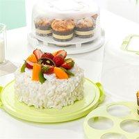 Storage Bottles & Jars Durable Plastic Round Cupcake Container Dessert Cake Box Holder Half Transparent For Kitchen Home