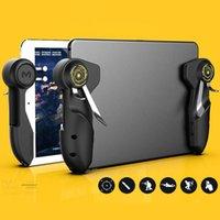 Game Controllers & Joysticks 1 Pair Mobile PUBG Controller For Tablet Six Finger Joystick Handle Aim Button L1R1 Shooter Gamepad Trigger