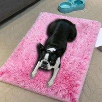 Kennlar pennor ultra plysch deluxe ortopedisk skum hund säng rektangulär katt mattor / avtagbart lock sällskapsdjur madrass små stora hundar #y