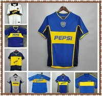 1996/97 Retro Classic Boca Juniors 2000/01 Diego Maradona Roman Riquelme Fussball Jersey Thailand Football Jerseys 1998 Fussball Trikots Uniform