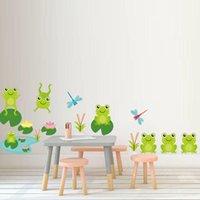 Wall Stickers Cartoon Frog Animal Boy Girl Kids Bedroom Decor DIY Nursery Mural Children Art Wallpaper