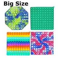 Große Größe 20 cm Push Bubble Sensory Zappel Spielzeug Sensorie Zappeln Letzte Gesperrte Stress Reliever Erwachsene Geschenk