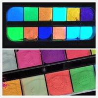 Sanat salon sağlık beauty12 ızgaraları floresan glitter toz ışık aydınlık trafik parlayan pigment neon fosfor drop del